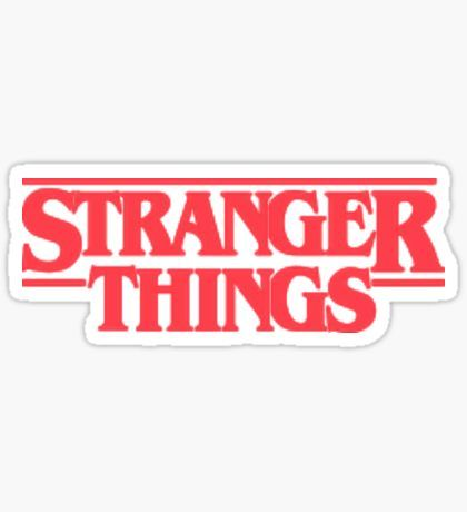 Hipster stickers stranger things