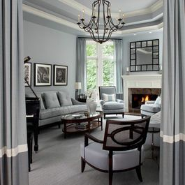 Octagon Tray Ceiling Home Design Ideas Pictures Remodel And Decor Elegant Living Room Design Grey Paint Living Room Living Room Grey