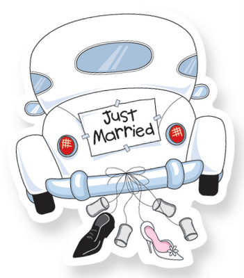 Pin By Denia Patricia Quesada V On Just Married Banners Just Married Car Just Married Digi Stamp