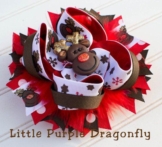 Glitter Reindeer Christmas Boutique Custom by LittlePurpleDragonfl, $14.99