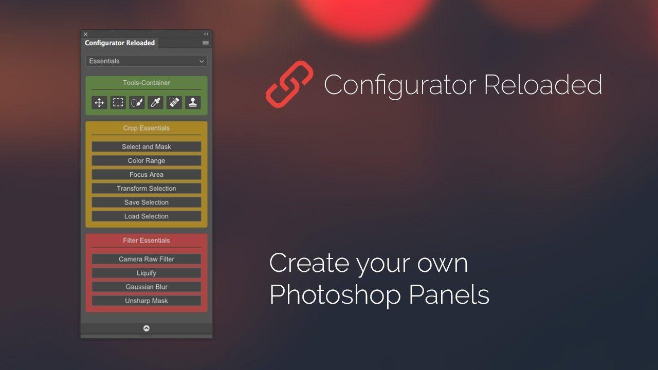 Configurator Reloaded Photoshop Panel English Photoshop Tool Design Gaussian Blur