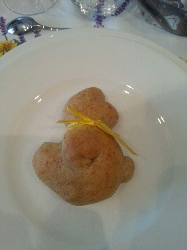 Coniglietto di pane #pasqua