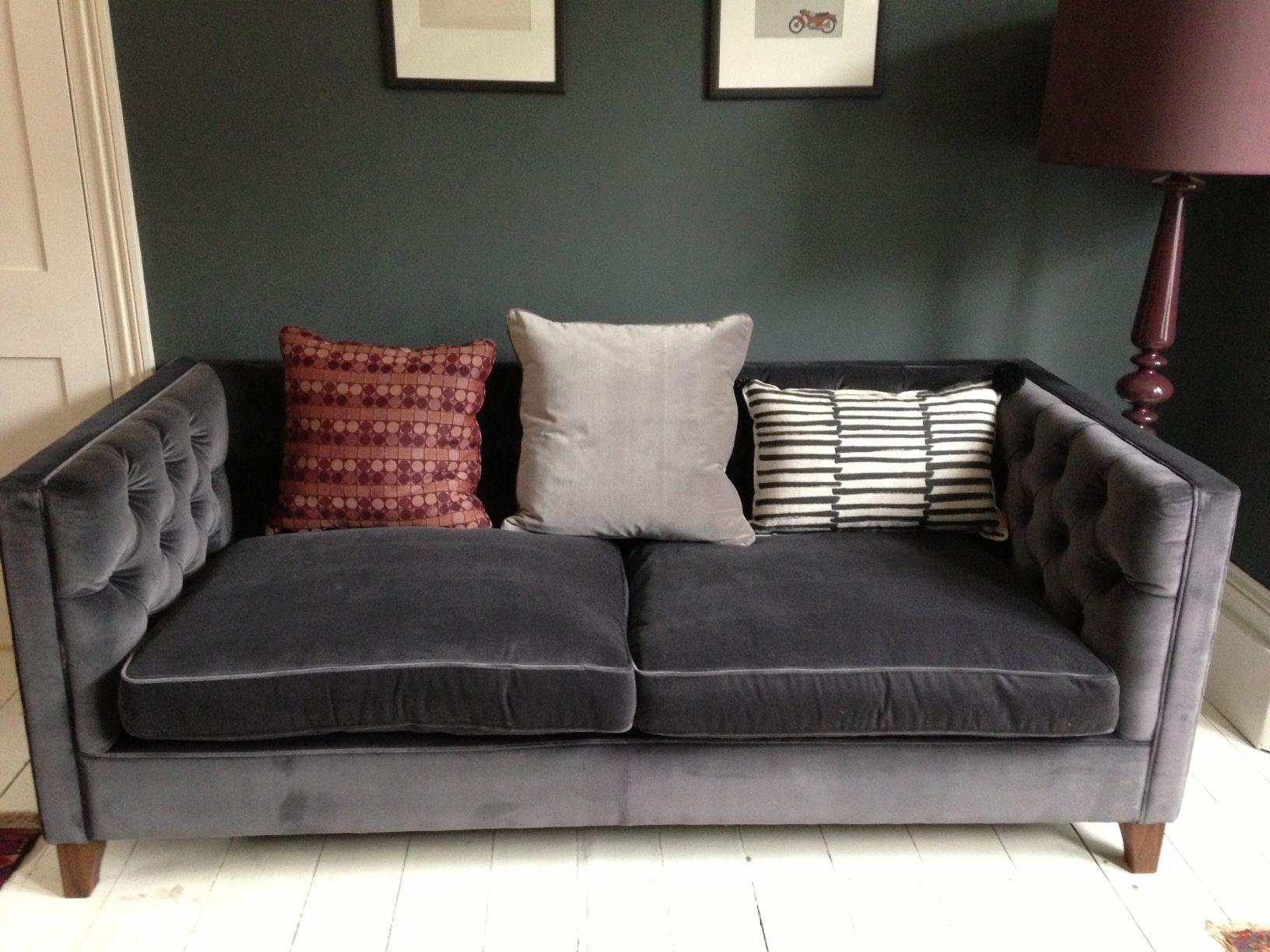 Cool Dark Gray Velvet Sofa Beautiful Dark Gray Velvet Sofa 38