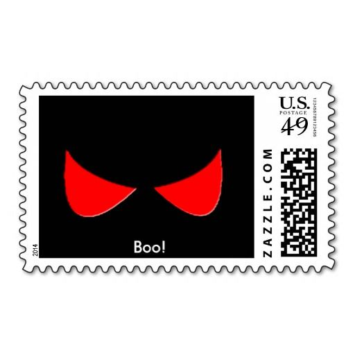 spooky eyes, Boo! Postage Stamps