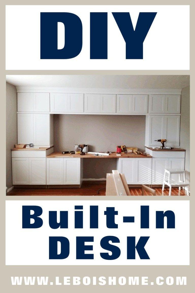 Built In Desk Le Bois Home In 2020 Built In Desk Office Built Ins Kitchen Office Nook