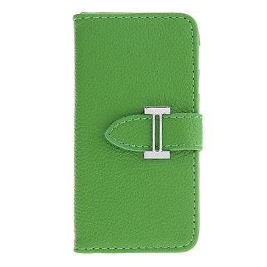 Portemonnee+Ontworpen+Litchi+patroon+pu+Full+Body+Case+met+Card+Slot+voor+iPhone+5/5S+(verschillende+kleuren)+–+EUR+€+8.27