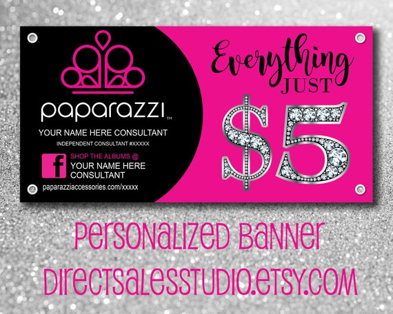 Custom Personalized Outdoor Vinyl Banner 3 X 6 36 X72 Paparazzi Consultant Business 5dollarha Paparazzi Banner Jewelry Business Card Paparazzi Consultant