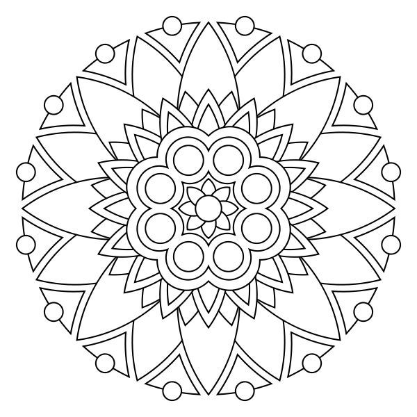 13 kids coloring pages mandala | Print Color Craft | Mandalas ...