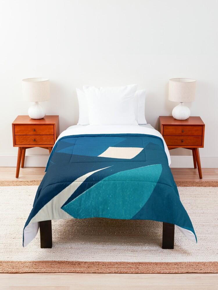 Photo of 'Blue Origami Cat' Comforter by FernandoVieira