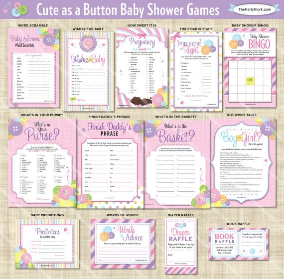 Good Cute As A Button Shower Games Girl Baby Shower By Thepartystork