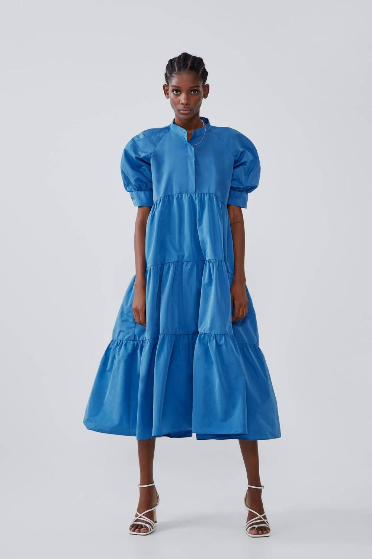 zara blue poplin dress Promotions