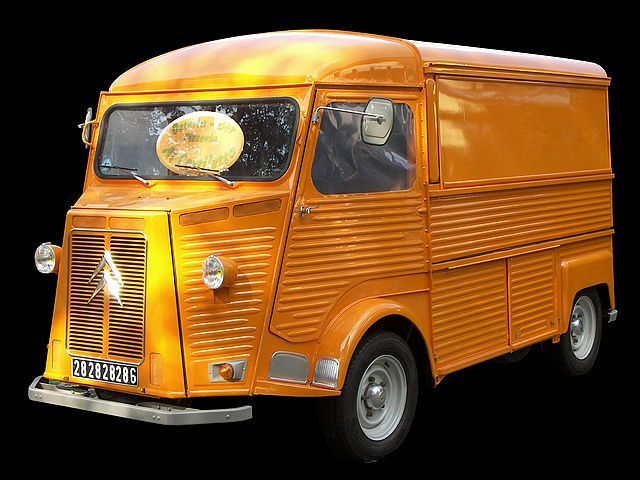 Citroen H Van: These are called Roach Coaches (Lunch Wagons) in Calif.