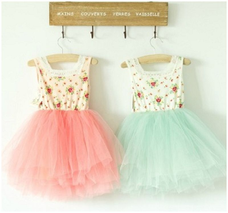 Pastel Flower Dresses From Baby Dimples Boutique