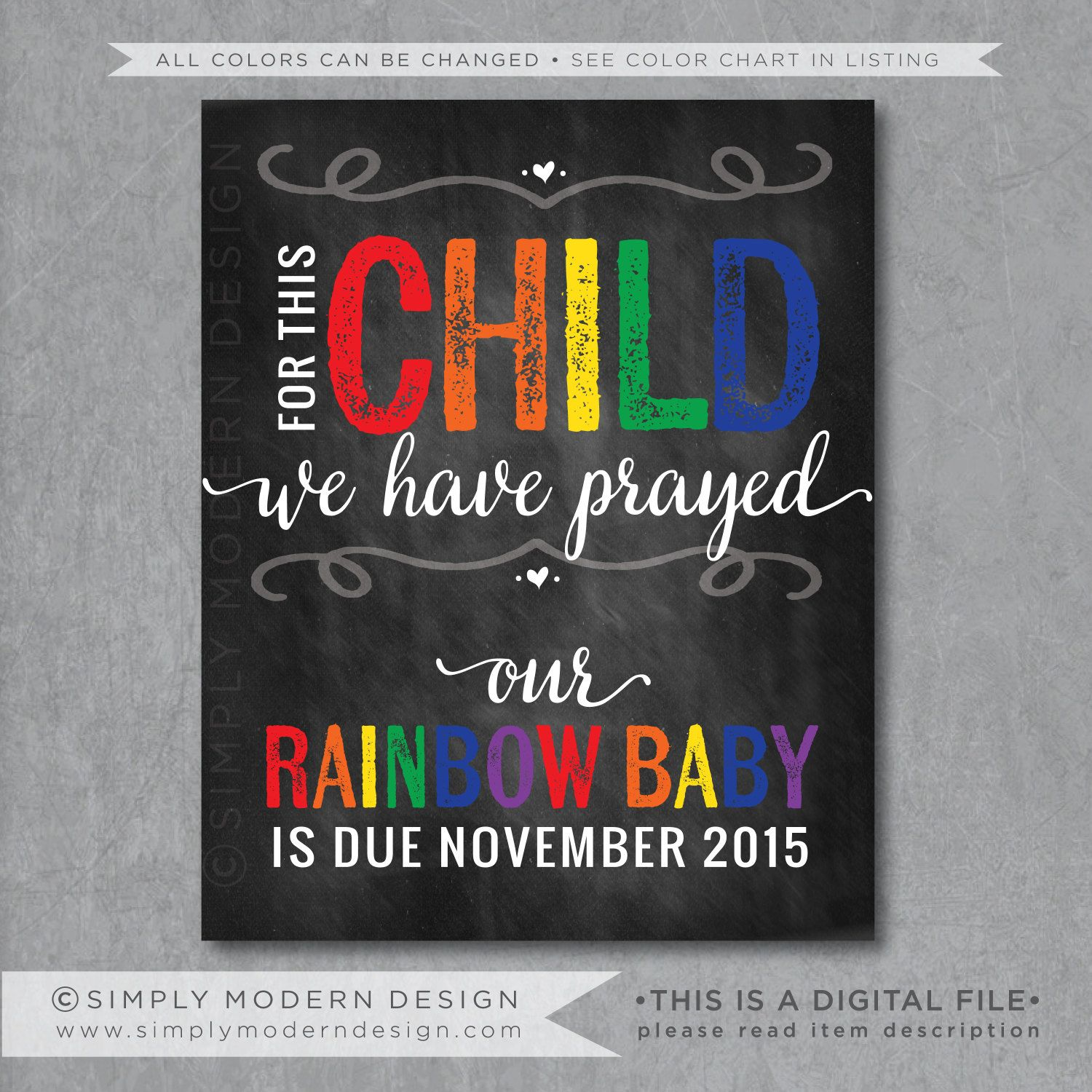 rainbow baby pregnancy announcement for this child we have prayed