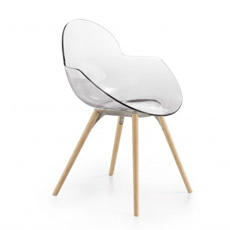Infiniti Cookie Stuhl Mit Holzbeinen Transparent Stuhle Mobelideen Holz
