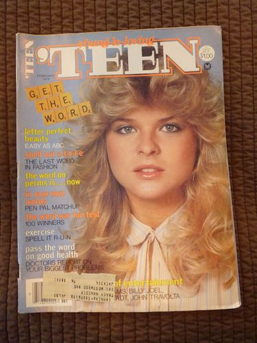 February 1979 cover with Rhea Deszcz.  My favorite model from 'TEEN magazine .