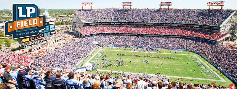 Lp Field Home Of The Tennessee Titans I Ve Seen A Number Of Steeler Games There And A Few Music City Bowls Great Cro Tennessee Titans Stadium Nissan Stadium