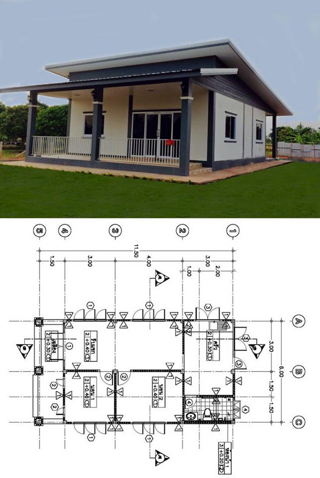 การออกแบบบ้านที่เรียบง่ายหากผู้อ่านต้องการสร้างบ้าน
