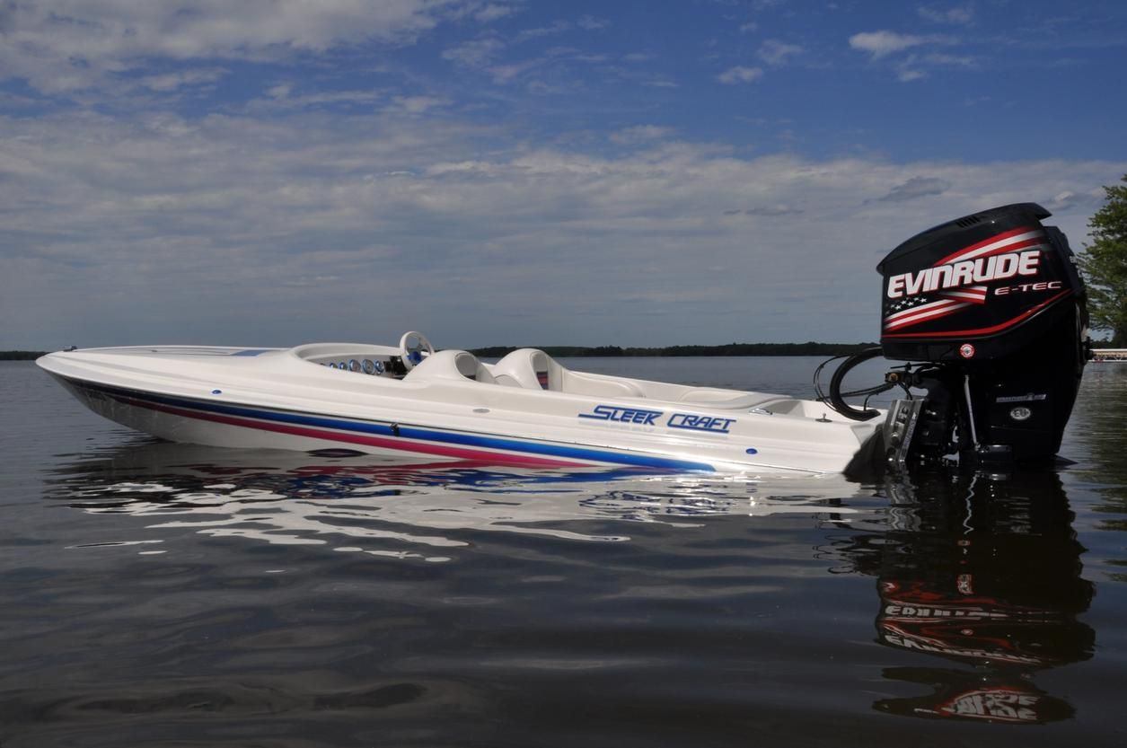 sleekcraft sst 20ft with a bad evinrude 250ho speed