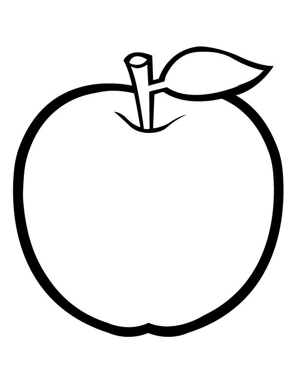 Apple Coloring Pages 06 Jpg 612 792 With Images Apple