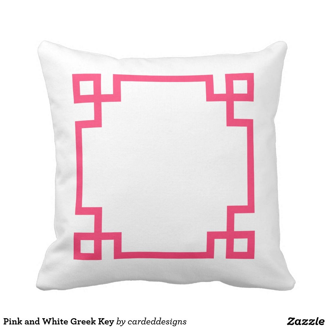Pink and white greek key throw pillow greek pillows and key