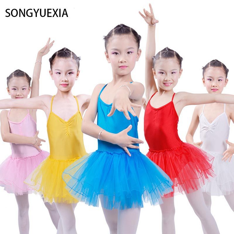 e24e7d0fe Girls  Ballet Dance Dress Kids  Hot Ballerina Leotard Gymnastics ...