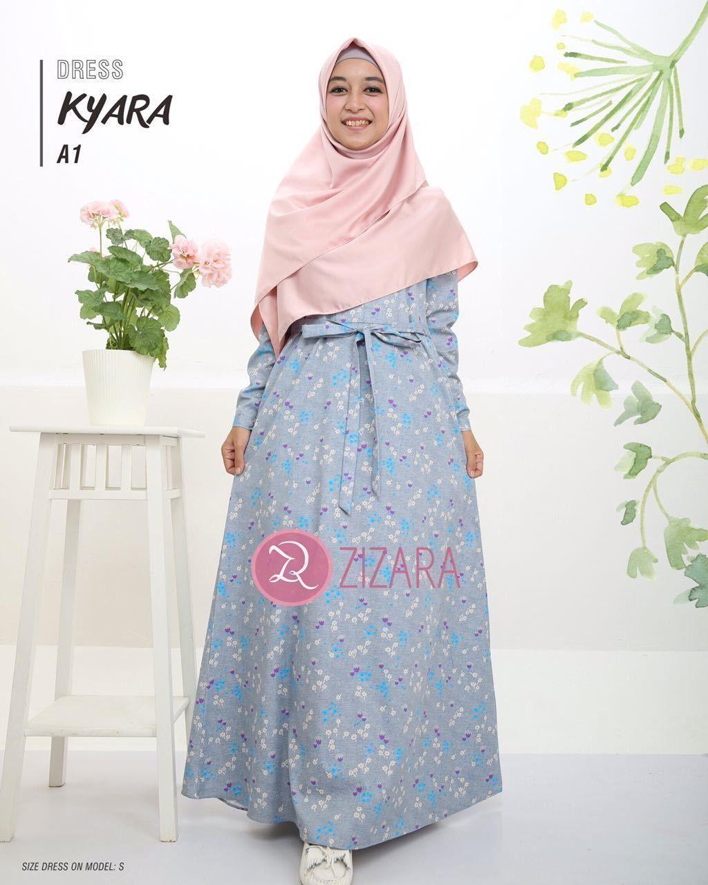 Gamis Zizara Kyara Dress seri A1 - baju muslimah busana muslim Kini hadir  untukmu yang cantik 32645c263f
