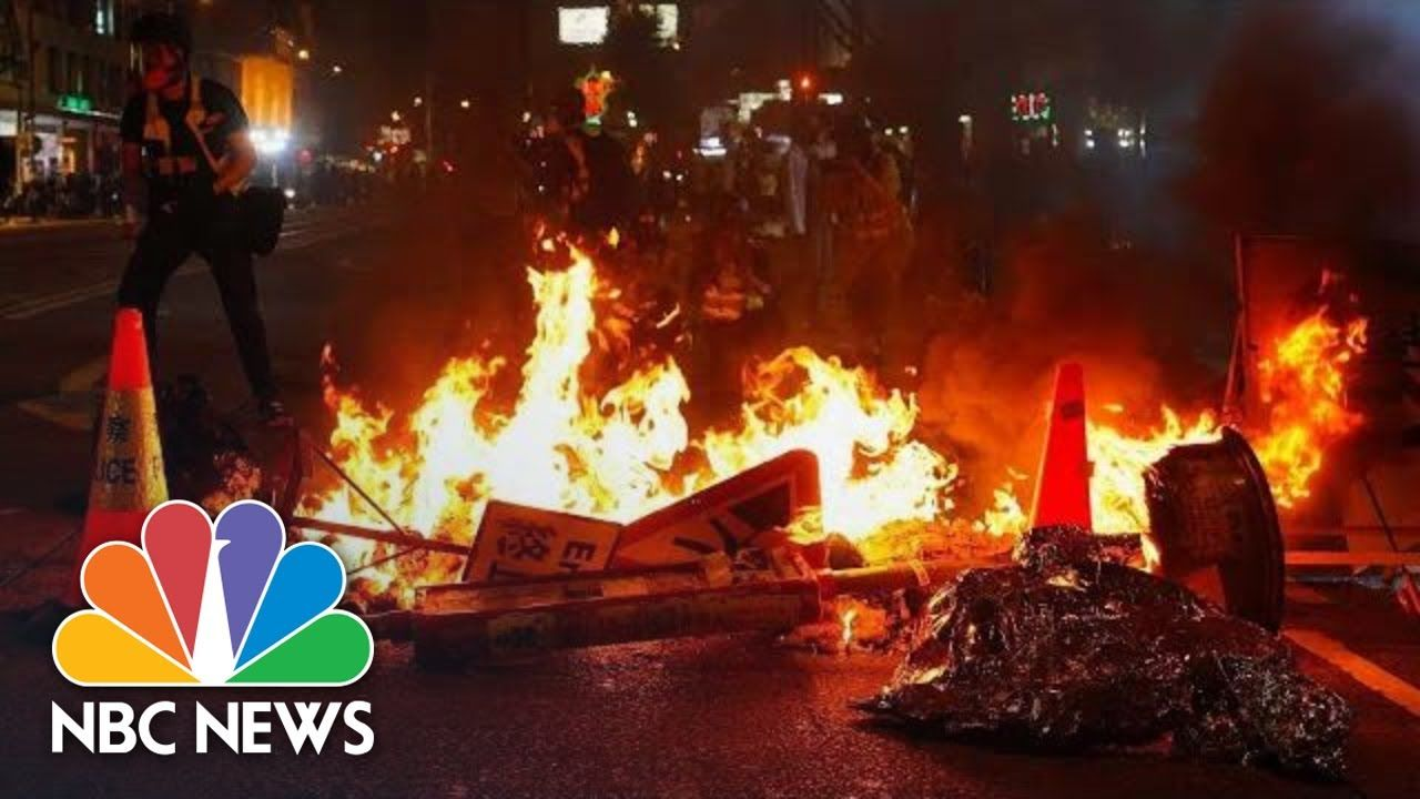 Water Cannons Tear Gas Disperse First Hong Kong Protests Of 2020