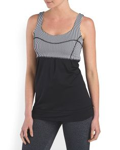 image of Mesh Striped Tank