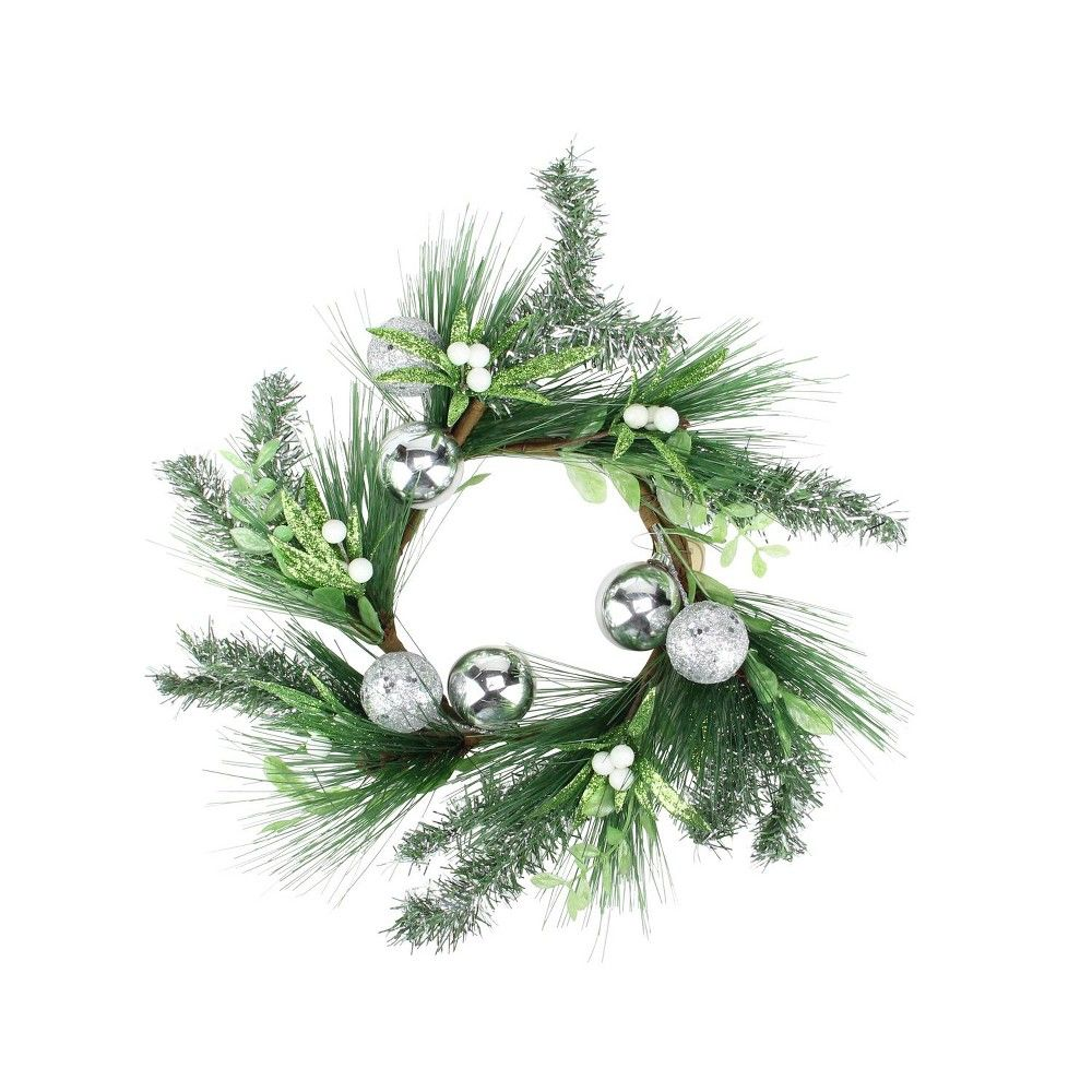 Sparkling Rustic Mistletoe Candle Ring