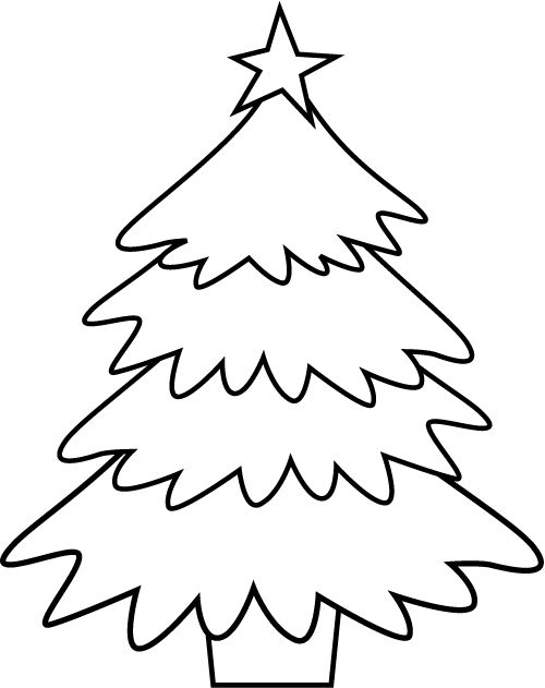 Evergreen Christmas Tree Coloring Page Christmas Tree Coloring