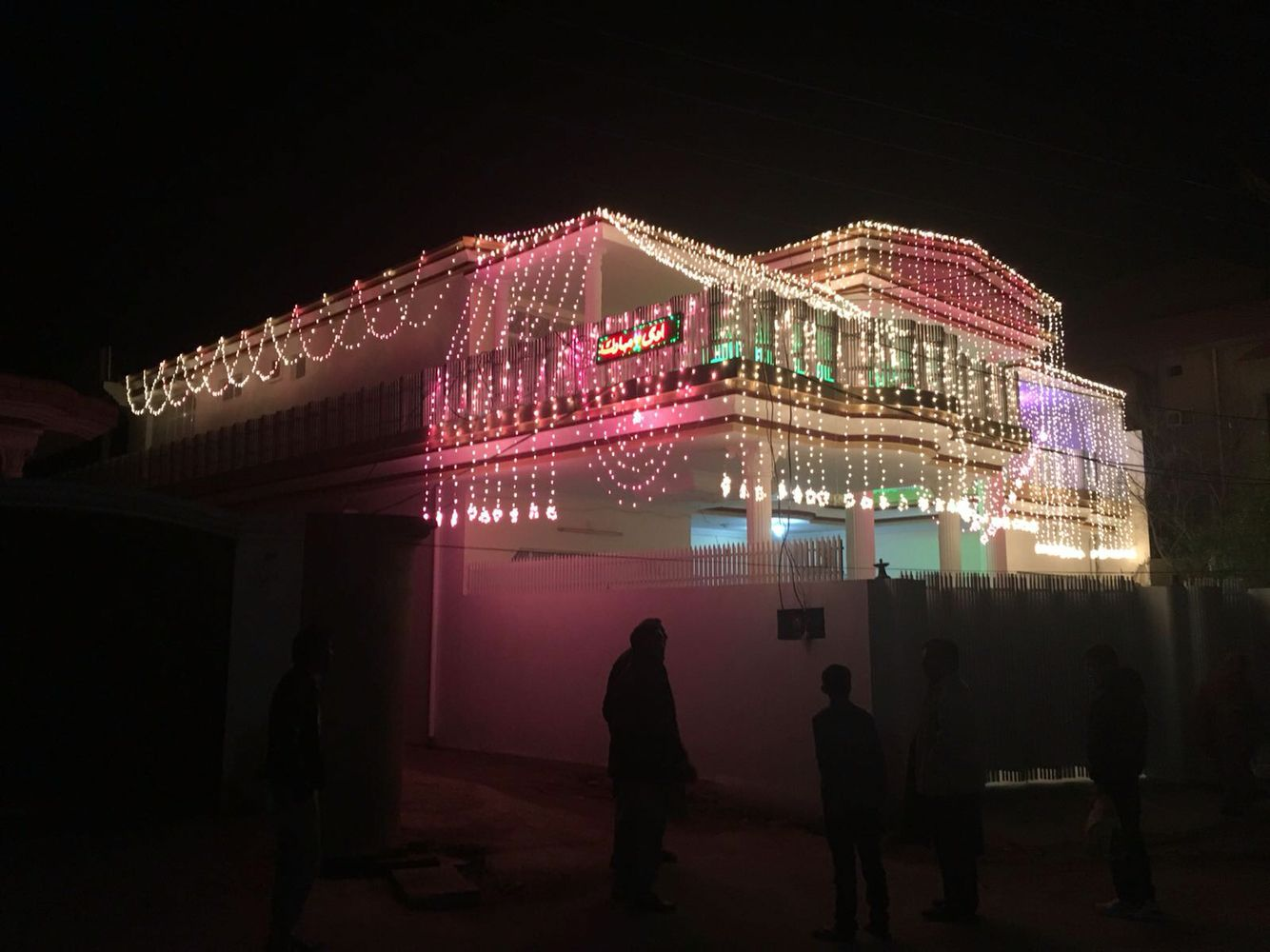Indian Wedding House Lights In 2019 Stage