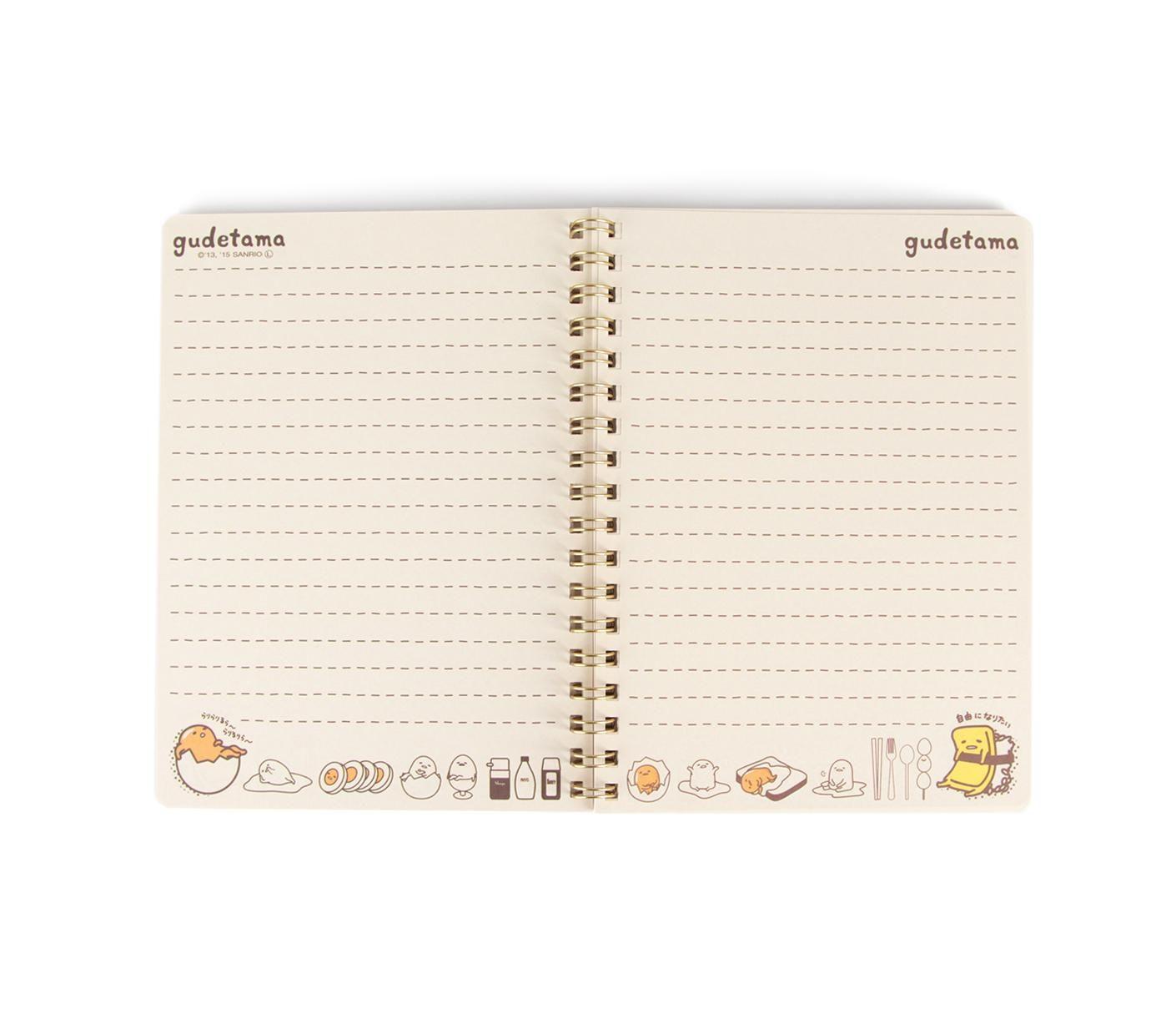 Gudetama Spiral Notebook: Beige