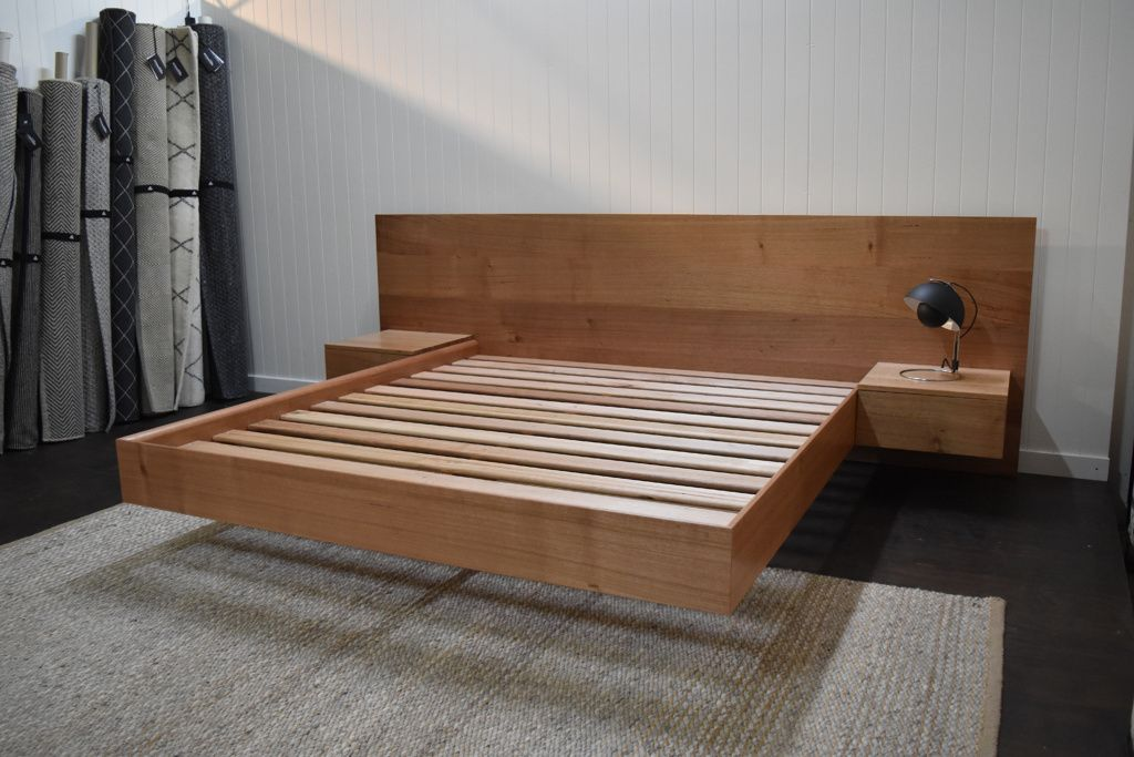 5 Free Floating Bed Frame Plans Diy plattform bett