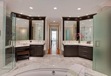 Luxurious Burr Ridge IL Master Bath - contemporary - bathroom - chicago - Drury Design