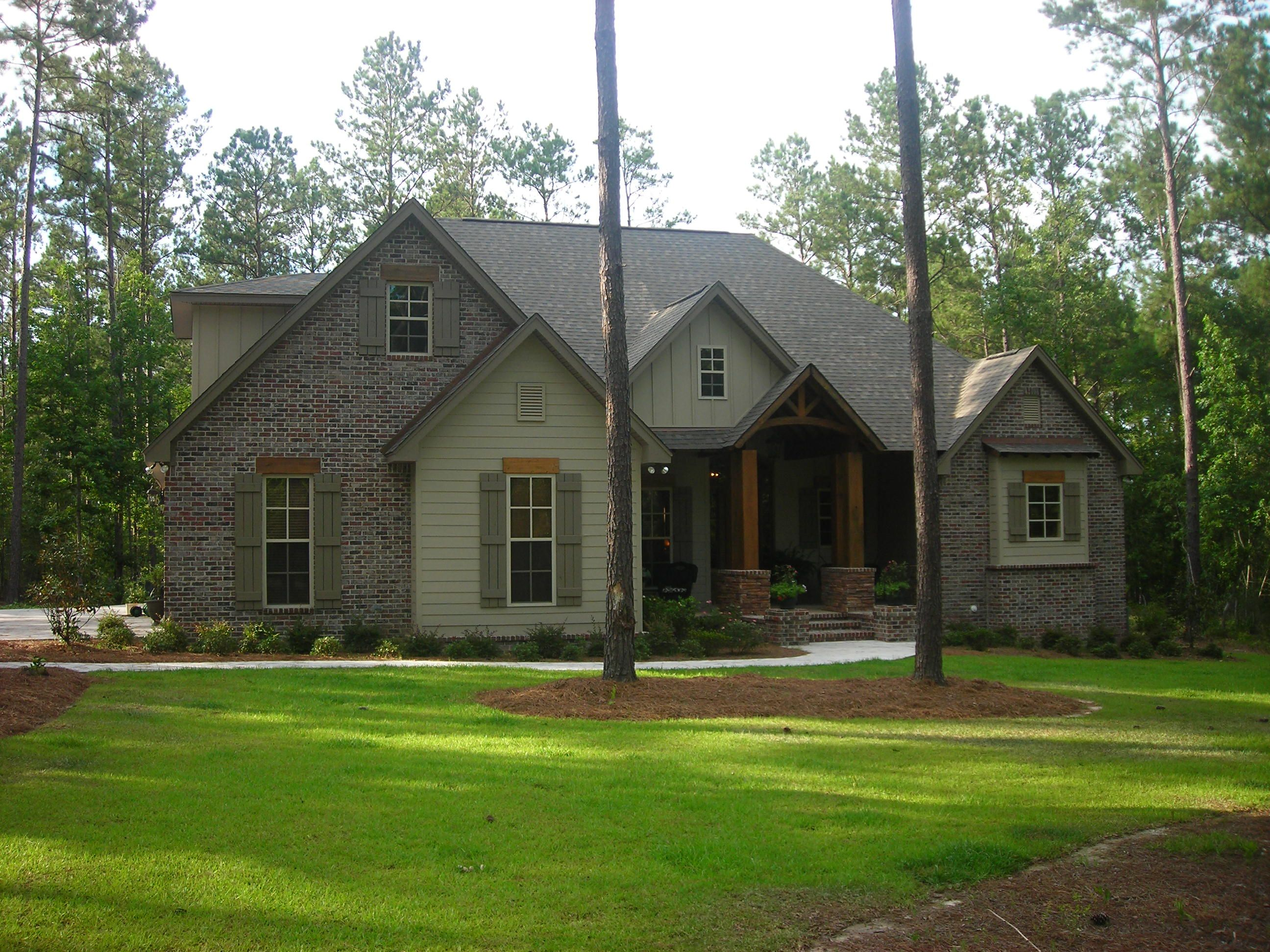 This Craftsman style home plan with Country influences House Plan