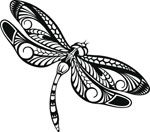 Dragonfly Tattoo with Flowers