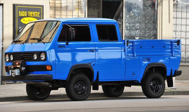 Vw Syncro Crew Cab Transporter 4wd Type 2 T3 Vw Syncro Vw