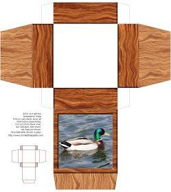 printable wood and duck photo box