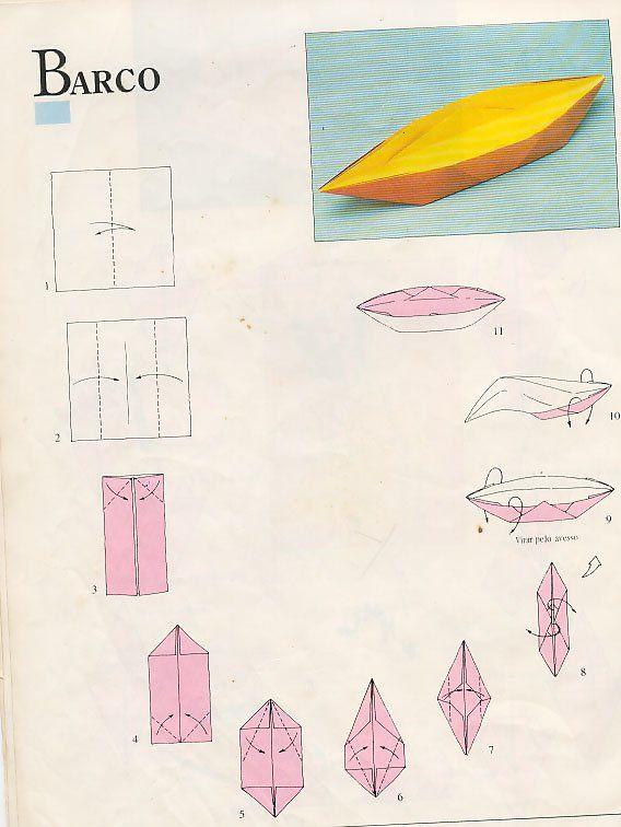 Apostila De Origami Com Moldes Origami Barcos De Origami E Como