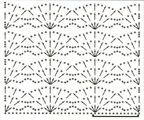 1001 узор узоры крючком ракушки и веера узоры вяз детское