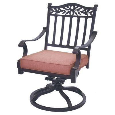 Outdoor Darlee Charleston Swivel Rocker Patio Chair - Set of 2 - ELIT363-1
