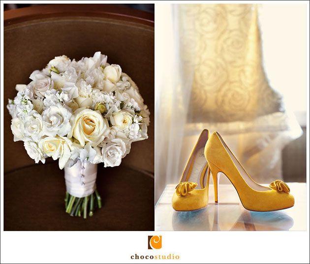 soft yellow bridal bouquet