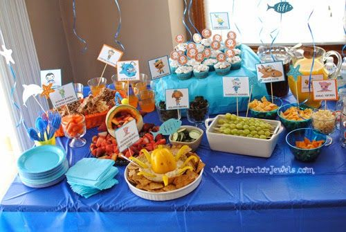 Octonauts Birthday Party Food Ideas Party Table Under the Sea