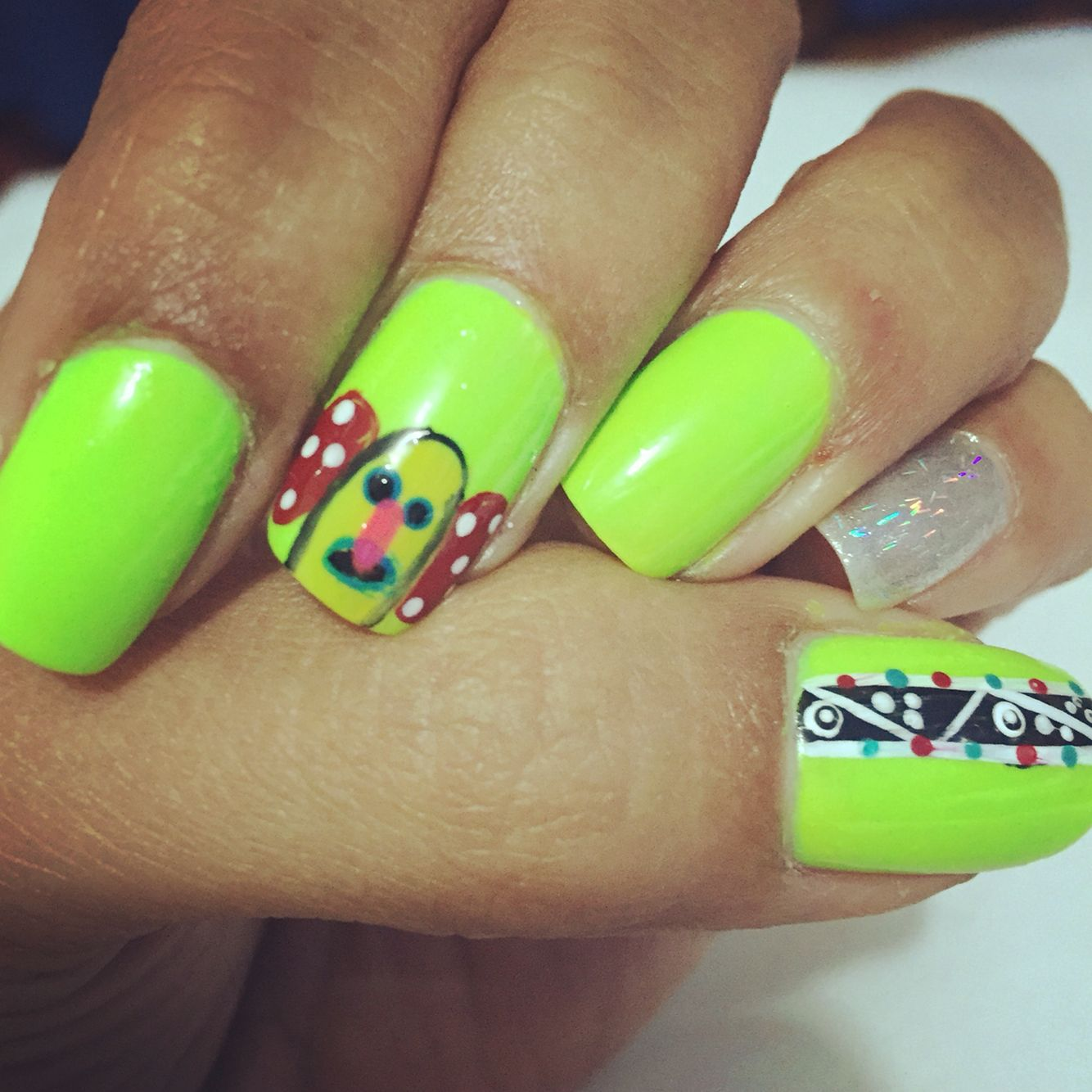 Nails design !! Uñas de carnaval !!! Marimonda | uñas | Pinterest ...