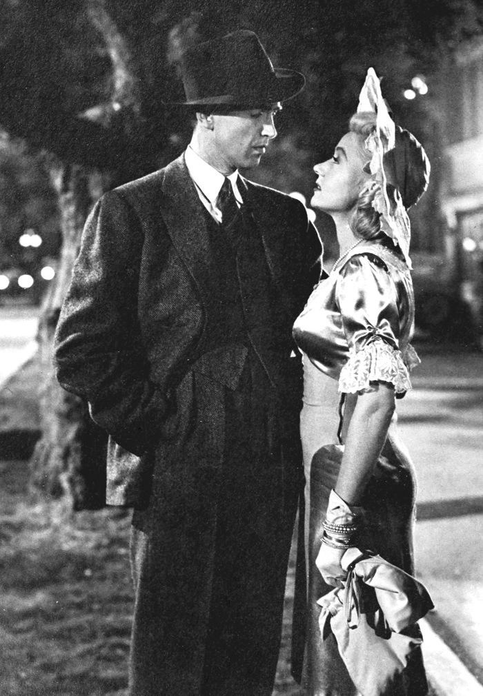 "Jimmy Stewart and Gloria Grahame in ""It\'s a Wonderful Life"" 
