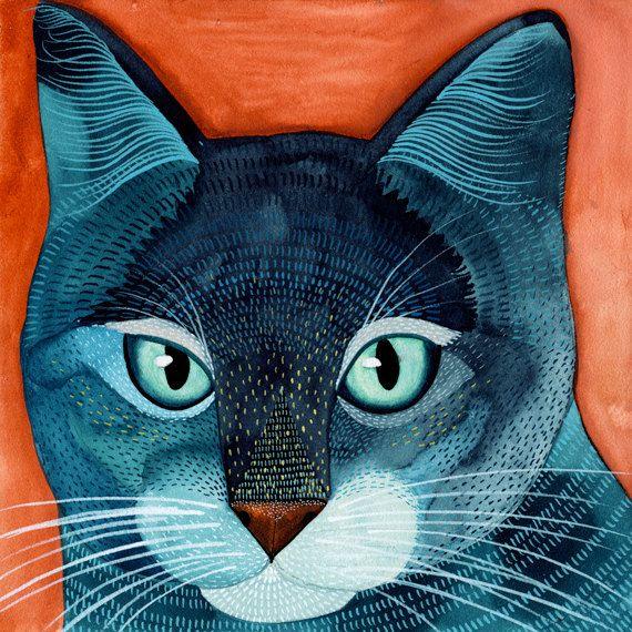 Kitty No.5 by Geninne on Etsy