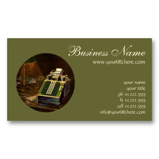 Vintage business accountant accounting machine business cards card templates sciox Choice Image