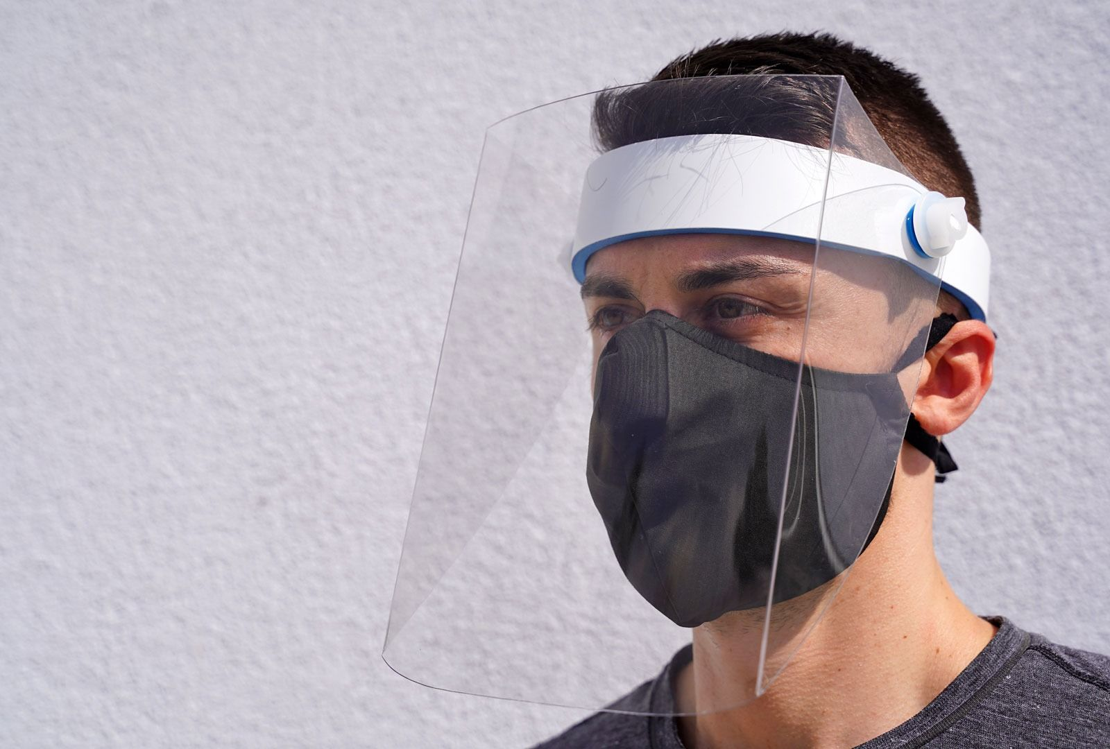 Reusable Protective Face Shield Comfort 2.0 in 2020