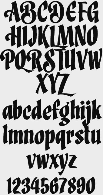Originally Created For His Own Logo The Letterstyle Was Expanded To Include 4 Different Styles Regular Swash Organic And